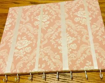 Pink Floral hair bow holder / hair bow organizer