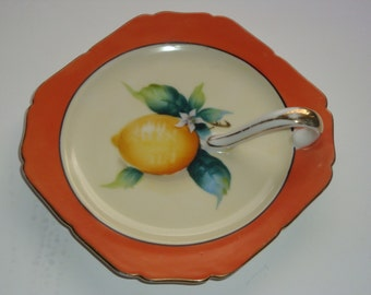 Hand Painted Handled Fruit Nappy