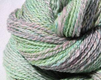 Luna Moth - Handspun Merino & Tussah Silk - DK Weight - 3.12oz / 220yards