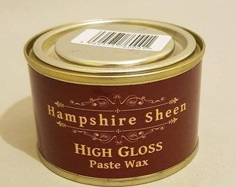 High gloss paste wax