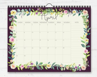 2018 Wall Planner Calendar - 2018 Family Calendar - Monthly Wall Calendar - 2018 Organizer - Gift For Mom - Mothers Day Gift