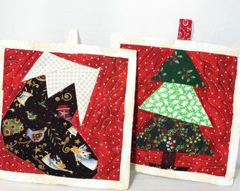 Christmas Tree and Stocking Pot Holders