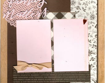 Family Matters / I've Got your Back  2 Page Scrapbooking Layout Kit