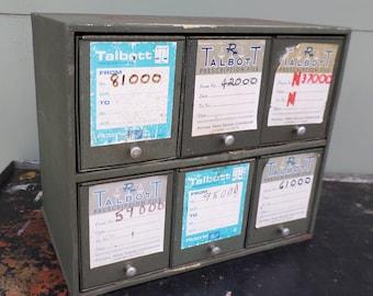 Industrial, Storage, Pharmacy, Cabinet, Grey, Vintage, Prescription File Cabinet, Office, Medical, Oddities, Talbott, Aurora Illinois, USA