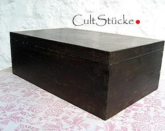 Vintage unique wooden crate box