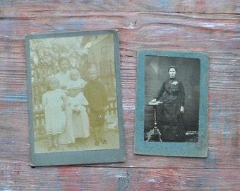 Antique Cabinet cards, Antique Photos, Cabinet Portrait. Set of 2.