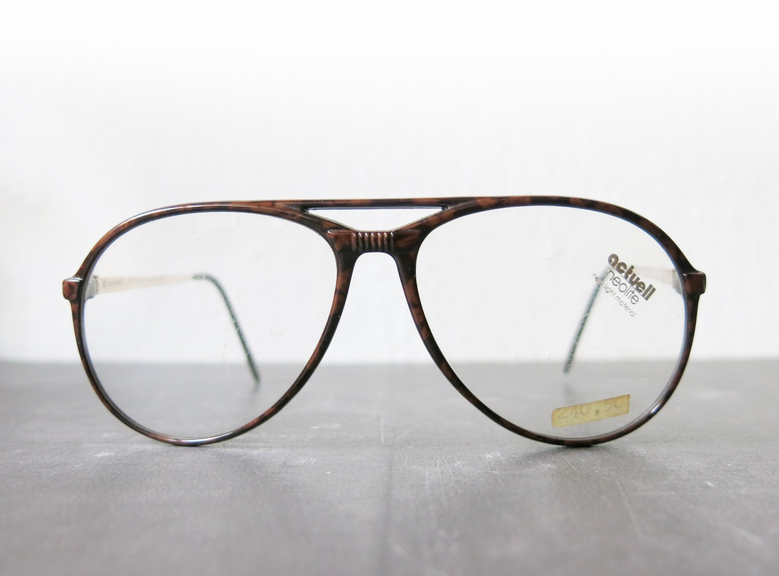 Actuell Couture Neolite Glasses, Aviator Form, 80s
