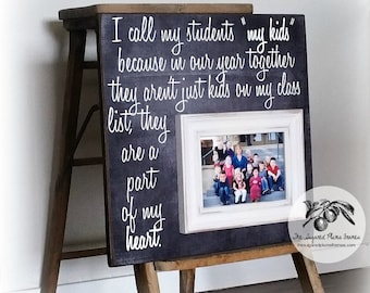 Teacher Gifts, Teacher Thank You, End of year Teacher Gift, Teacher Appreciation, Teacher Frame 16x16 The Sugared Plums Frames
