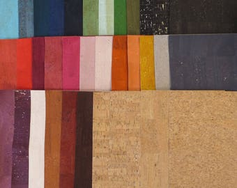 Natural Cork Fabric - Many Colors Available