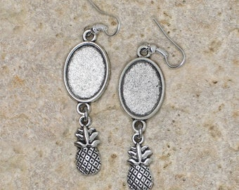 support cabochon 13 X 18 mm pineapple earring