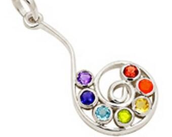Chakra reiki Crystal healing balancing DA23 CHOKUREI jewelry PENDANT