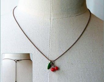 Micro Lucie cherry cherries Choker necklace