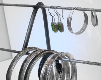 Jewelry Display Stand Metal Natural Steel - BEND Mini Ladder