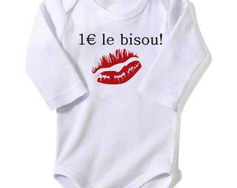 Bodysuit 1 euro Kiss humor
