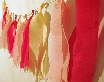 Party Crepe Banner Garland // Bridal Shower // Baby Shower // Birthday