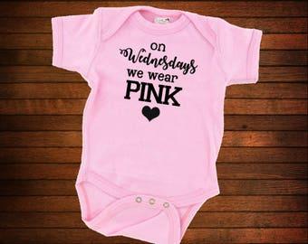 On Wednesdays We Wear Pink Onesie