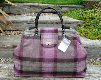Custom made Bag, Overnight Bags, Carpet Bag, Bespoke bag, Wool Tweed Bag, Weekend Bag, Mary Poppins Bag,  Luggage and Travel