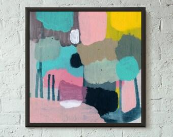 Don't Stop No. 8 of 9 // Modern Abstract Art Original 8x8 Mixed Media Acrylic Painting on Canvas Panel, Free US Shipping, Lisa Barbero