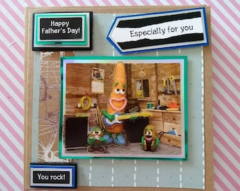 Violent veg father's day card