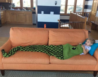 Python Snake Lap Blanket Knitting Pattern for Children and Adult Sizes -- PDF 417 -- INSTANT DOWNLOAD -- Back-and-Forth Knitting