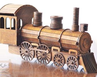 Train, holder for wine bottles - Digital files