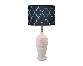 Hollywood Regency Blanc De Chine Ceramic and Walnut Table Lamp