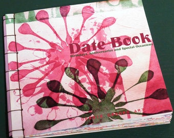 Date Book with card storage