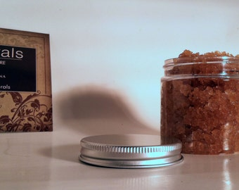 All-Natural Raw Sugar Scrub with Dead Sea Salt