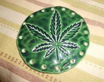 Cannibis  Leaf Pine Needle Coiling Base