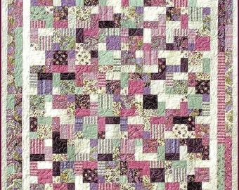 2 & 1/2 BY 5 Quilt E-Pattern - B J Q 113 --- Printable Download Pdf Diy Free Shipping Digital Pattern Pink Purple Green Square