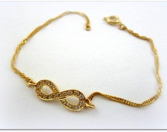 Infinity Bracelet -Gold Fill 14K bracelet, handmade jewelry gold infinity bracelet