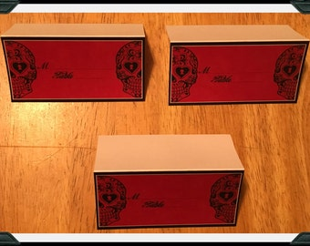 Sugar Skull Day of the Dead Inspired Place Cards