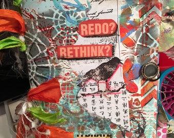 "Blank Paper Journal-""Redo, Rethink"""