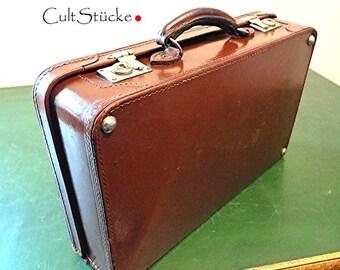 and goodbye-vintage oldtimer suitcase Leather