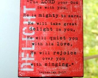 Zeph 3-17 - Print Mounted on Wood