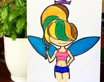 Pride Fairy - Female - Copic Art Marker Illustration