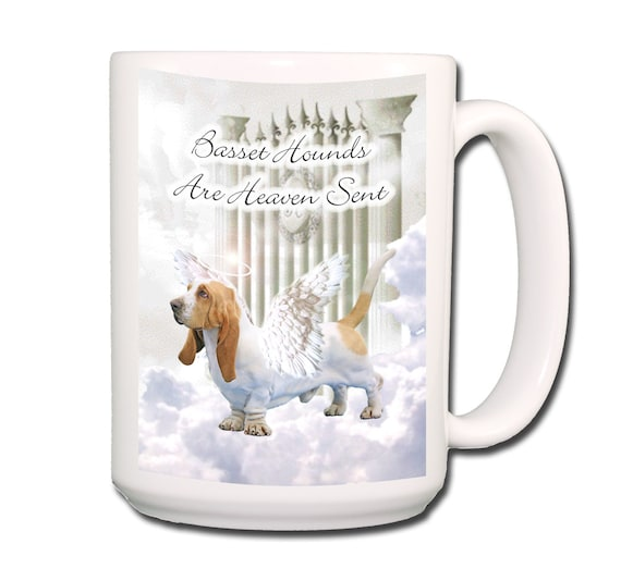 Basset Hound Heaven Sent Large 15 oz Coffee Mug