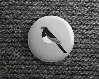 button met Ekster (pin / magneet / spiegel)
