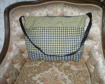 Large Madras Plaid Totebag Handbag