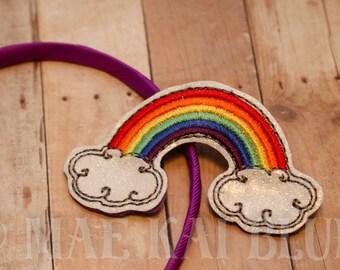 Rainbow - Headband Slider - Hair Jewelry - Cover - Bookband