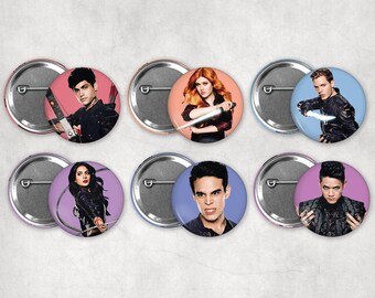 1.25in Shadowhunters Buttons