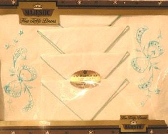 vintage linen ... Fine Table linens PLACEMAT NAPKIN HOSTESS Set ...