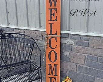 Wood Halloween welcome sign, welcome porch sign, porch signs, fall decor, Halloween decor, porch welcome sign, front porch signs, welcome