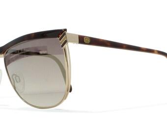 Gucci 2300 07L Gold Vintage Sunglasses CatEye For Men