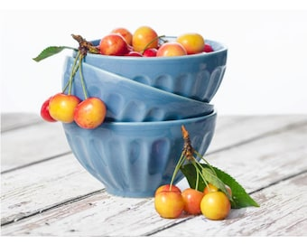 Bowl of Rainier Cherries: food photography notecard. Also available as a print or canvas.