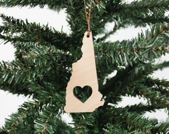 New Hampshire Ornament   Holz Ornament   Urlaub Dekor   Urlaub Ornament   Christmas Ornament   Wohnkultur   New Hampshire   Hergestellt in Maine