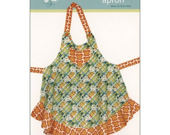 "Pattern ""Sassy Plus Size Apron"" Adult Apron Paper Pattern, Instruction Booklet by Cabbage Rose (CAR161-Plus)"