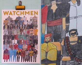 Watchmen Team Illustration