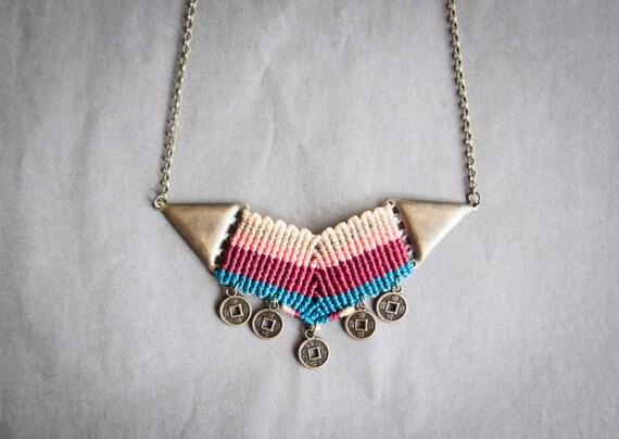 Plum chevron necklace