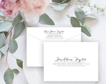 Envelope Template, Editable Printable Template, Printable Envelope, Calligraphy, Wedding Envelope | No. EDN 5004
